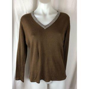 Soft Surroundings silk cashmere blend sweater 5155